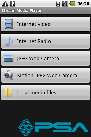 Streaming Media Player for Android