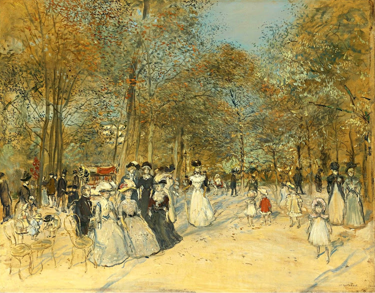 Jean-Francois Raffaelli - Les Champs-Elysees