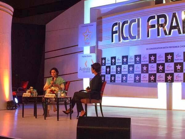 Priyanka Chopra at the FICCI Frames press meet
