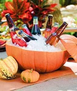 botellero calabaza para halloween