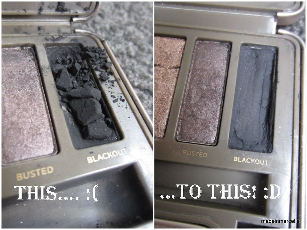 How to fix broken powder makeup with alcohol in four simple steps -  How To By C Easy Steps To Fix Your Broken Eyeshadows Naked 2 Palette