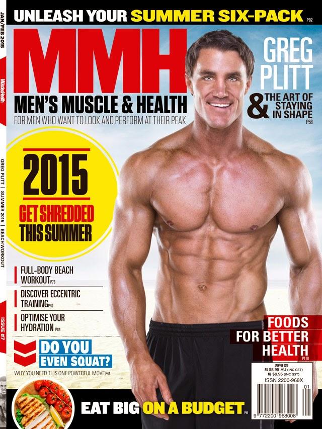 Greg Plitt estampa capa da edição de janeiro da Men's Muscle & Health. Foto: Reprodução