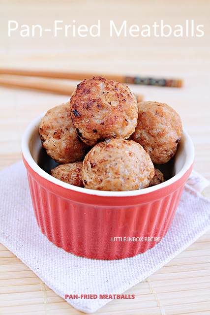 Little Inbox Recipe ~Eating Pleasure~: Pan-Fried Meatballs 炸肉丸