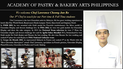 For The Love of Chocolates at the Academy of Pastry and Bakery Arts - Chef Lawrence Chocolate Prince