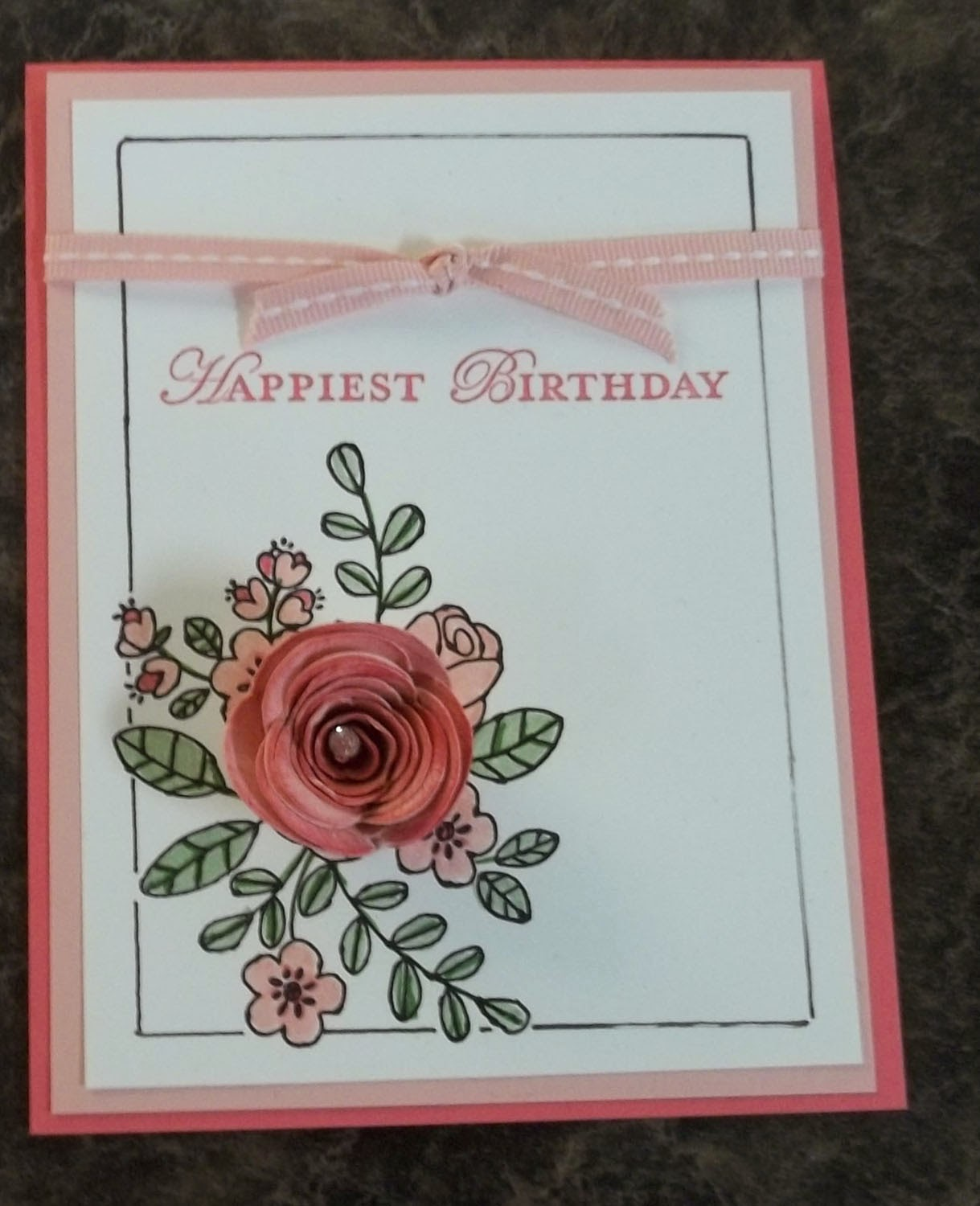 Card made with Stampin'UP!'s Spiral Flower Die
