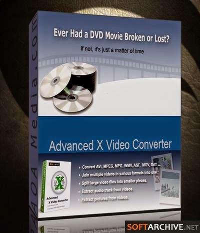 تحميل برنامج لتحويل مقاطع الفيديو والافلام الطويلة, Advanced X Video Converter