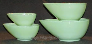 Fire King jadeite Mixing bowls