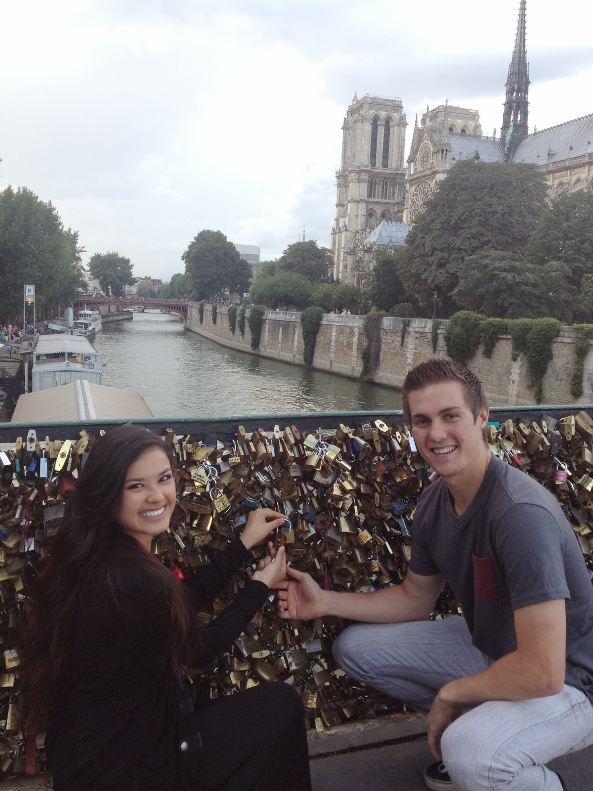 the beauty breakdown morgansbbd paris france study abroad travel notre dame lock bridge