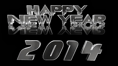 Black Background Beautiful Stylish Text Happy New Year Greetings Images Photos Wallpapers Pictures 2014
