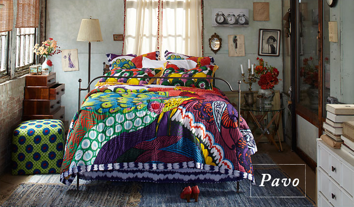 Anthropologie Peacock Bedding