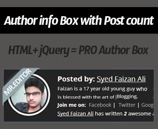 Author info Box For Blogger