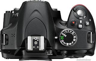 Panel atas Nikon D3200