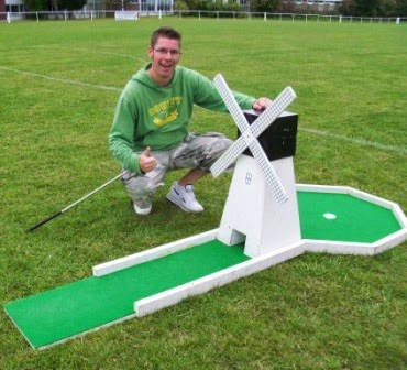 Minigolf at Kent Athletic Club in Leagrave, Luton