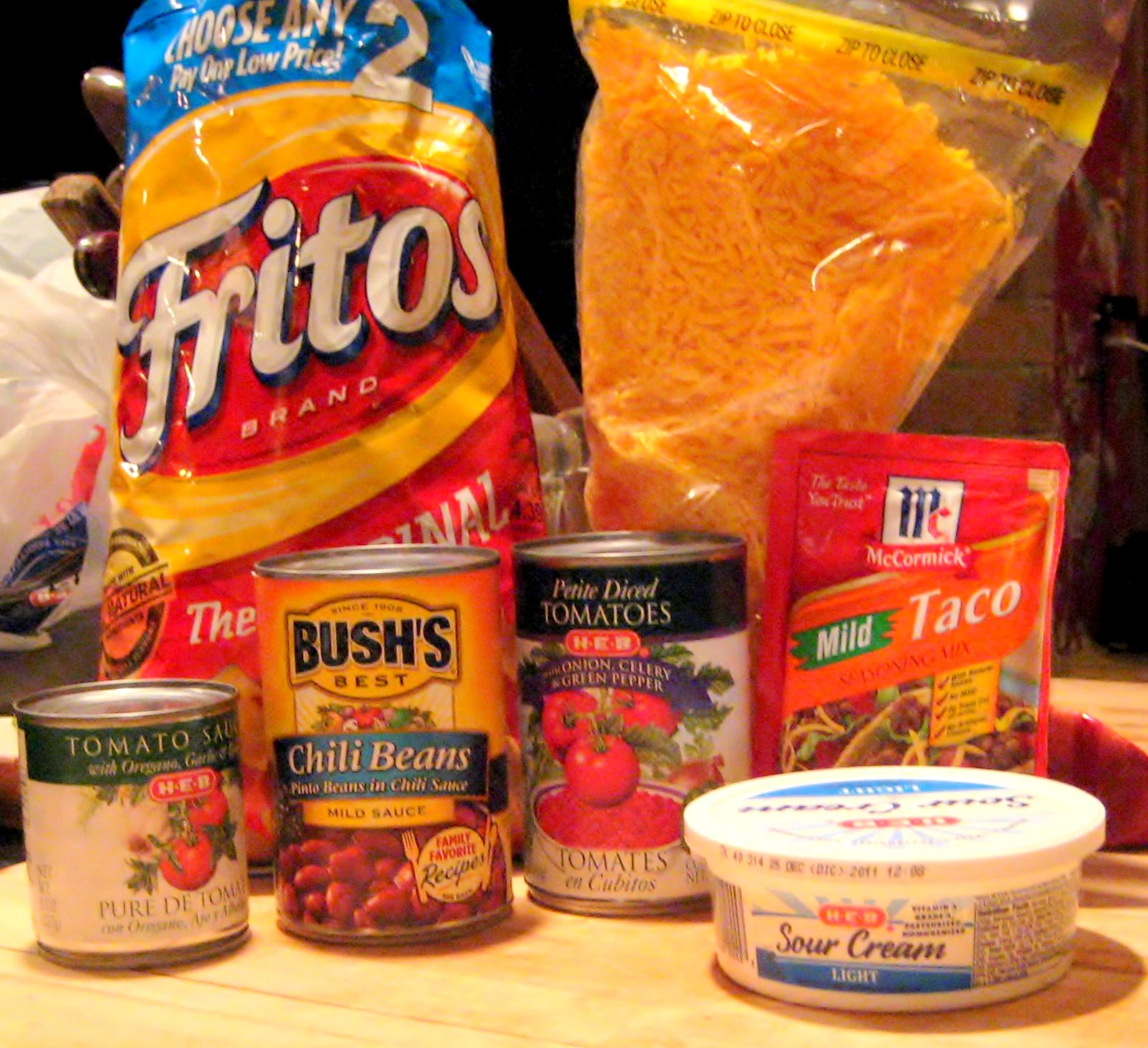 ... Pride comes before.. a broken oven- Baked Frito Pie & Blender Beans