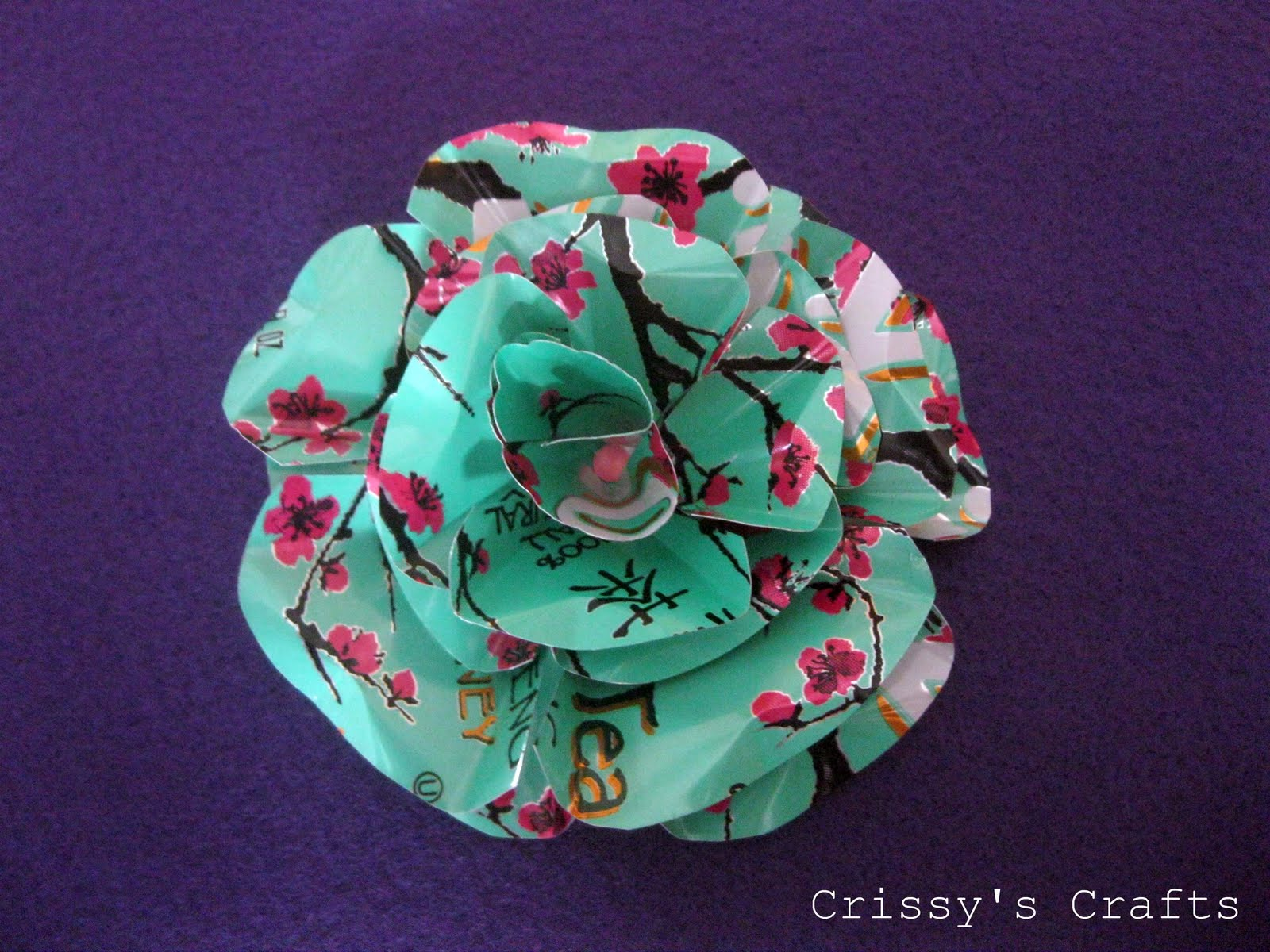 crissy 39 s crafts metal flowers picture tutorial
