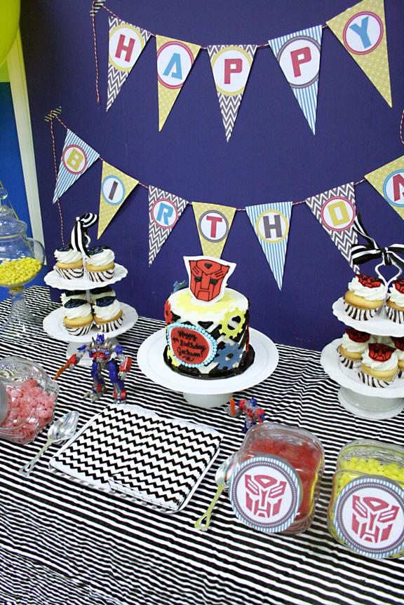 Transformer Birthday Party Darling Darleen A Lifestyle Design Blog
