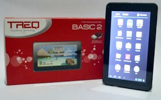 TREQ Basic 2 Jelly Bean, Dual Camera, Prosesor 1.0 GHz Open GL
