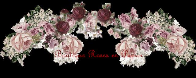 roses en papier pour toujours