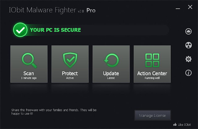 IOBit Malware Fighter Pro 2.0 - New Interface