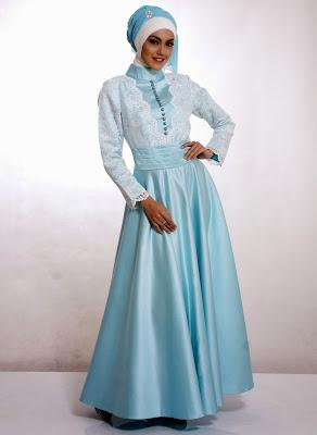 model baju muslim pesta bahan brokat