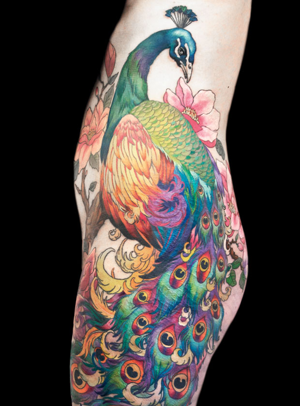 The Meaning Of Peacock Tattoos Peacocks Are A Breed Of Pheasant Birds