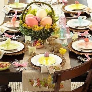 decoração mesa de páscoa