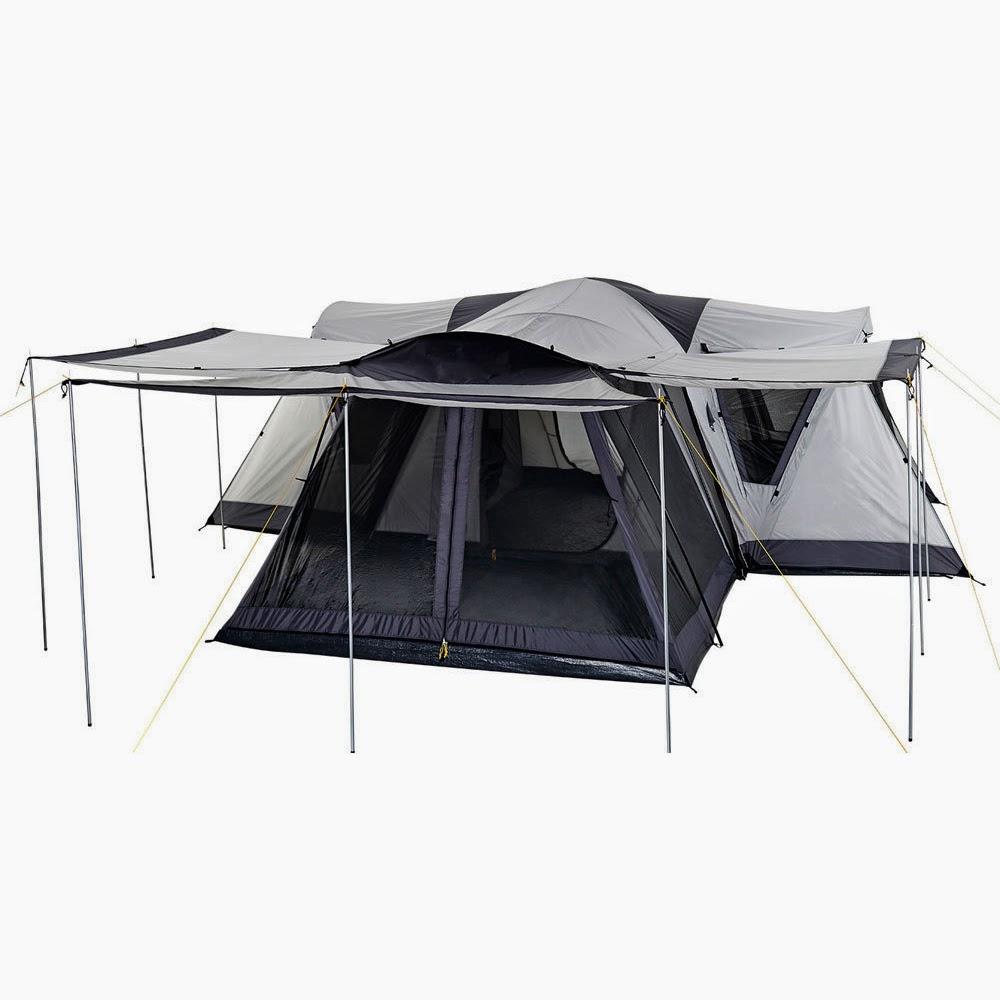 survive the elements oztrail villa anniversary edition 4 room dome tent