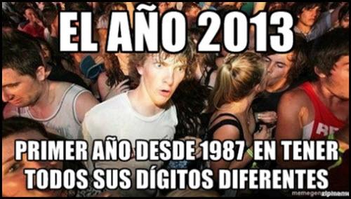 Una curiosidad sobre el 2013