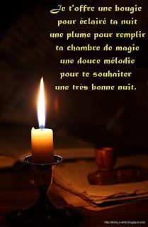 message bonne nuit bougie romantic