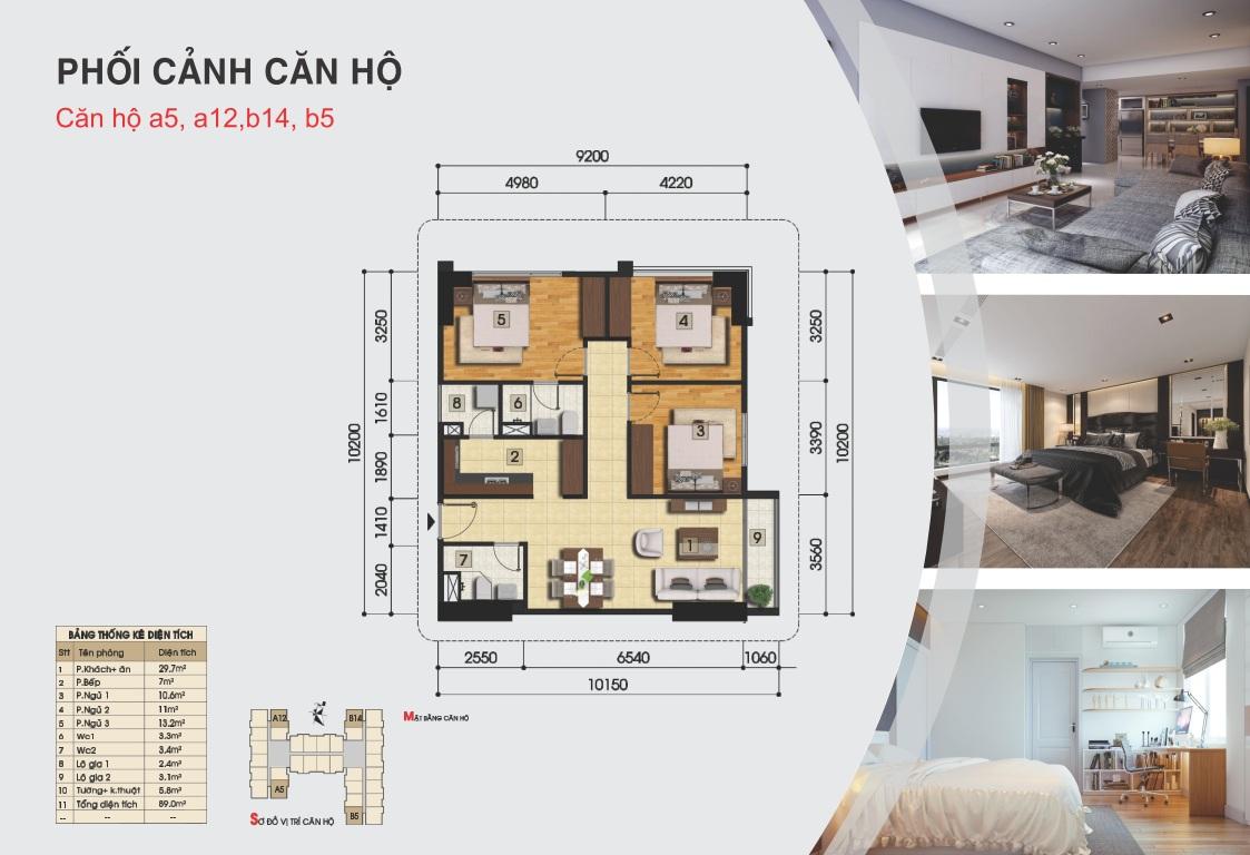 Thiết kế căn hộ a5, a12, b14, b5