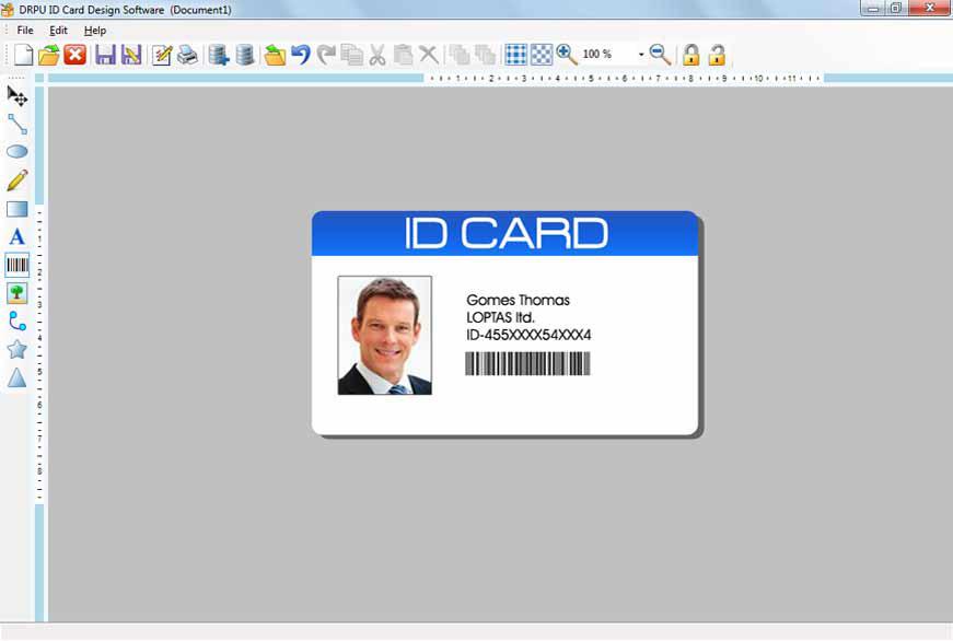 id card maker software silver flake llc