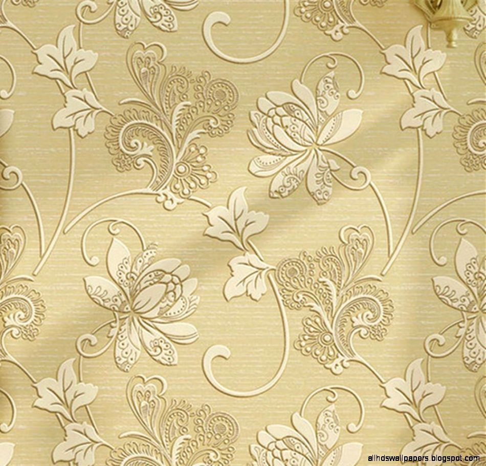 Luxury Home Decorative Vintage Flower Print Wallpaper Non Woven