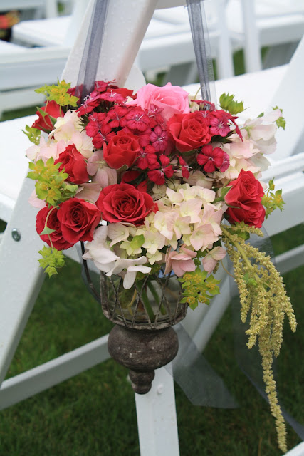 Otesaga Resort Wedding Pew Buckets - Splendid Stems Floral Designs