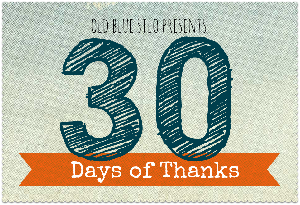 Old Blue Silo 30 Days Of Thanks My Parents
