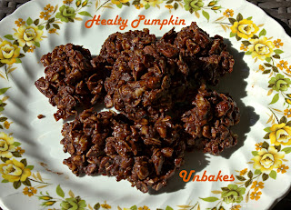 Healthy Pumpkin Unbakes/This and That #cookies #fillthecookiejar #pumpkin #chocolate #unbakedcookies
