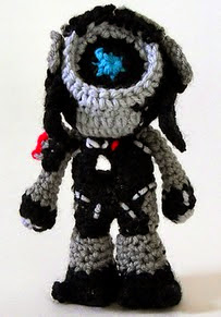 http://www.ravelry.com/patterns/library/mass-effect-legion-crochet-pattern