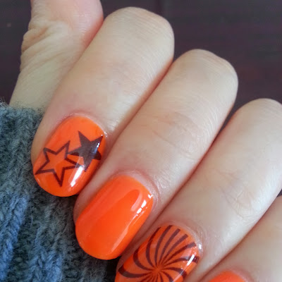 Alice nail art nyc example themes hive gel nail art nyc 032 halloween neon orange decal art prinsesfo Images