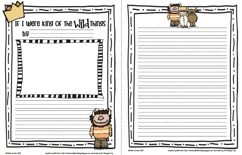 the Wild Things Are: Guided Writing Worksheet