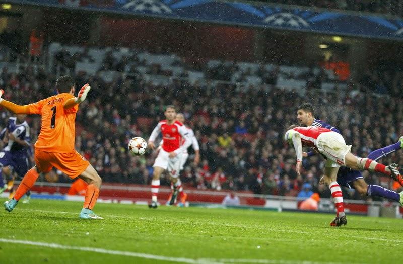 Liga Champions : Arsenal vs Anderlecht 3-3