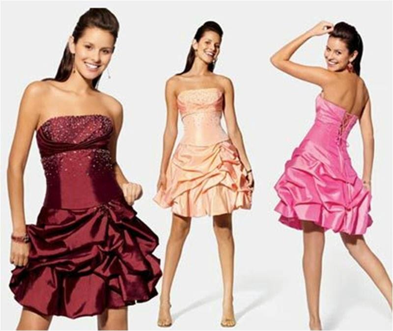 vestido de festa curto tomara que caia em tafetá - dicas e modelos