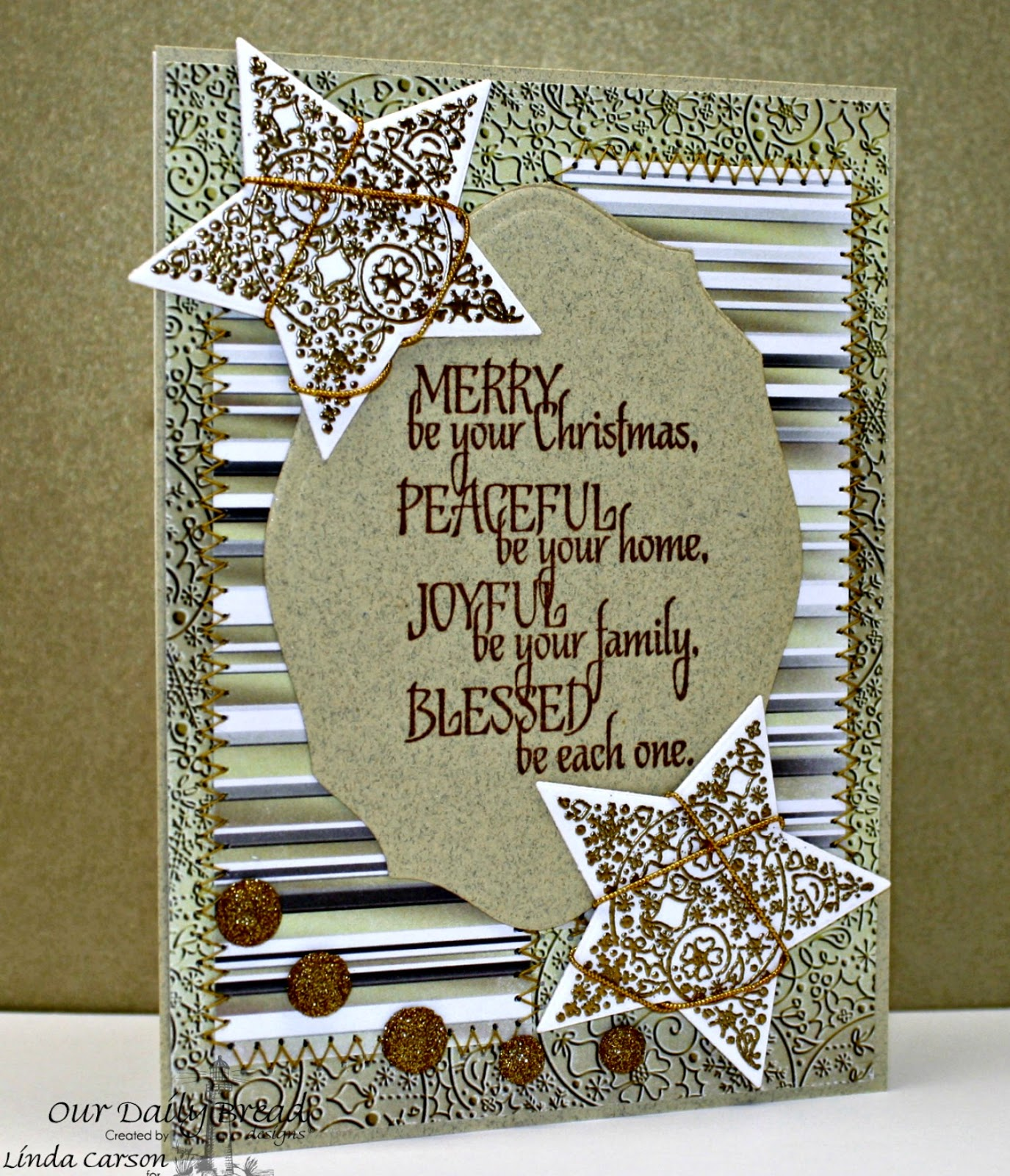 Our Daily Bread Designs, Sparkling Stars dies, His Birth, Winter Collection 2014, designer Linda Carson