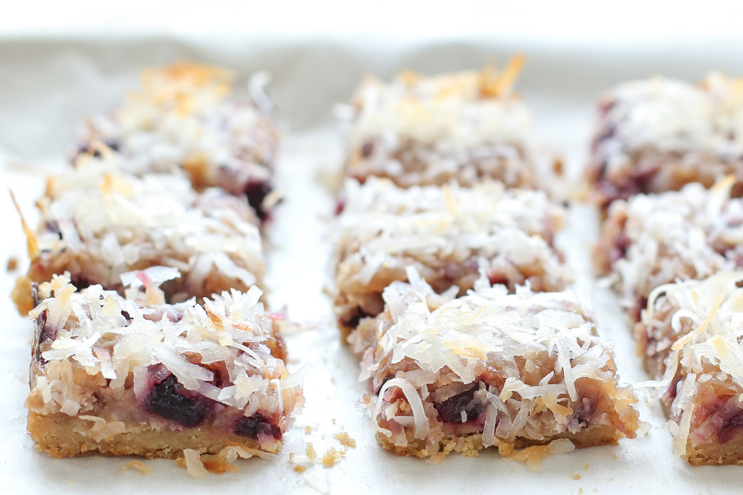Cherry Coconut Bars (traditional and gluten free recipes) by Barefeet In The Kitchen