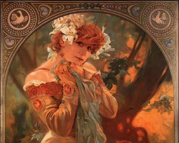 Alphonso Mucha Art Painting Wallpapers 07