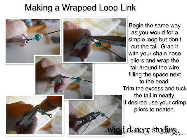 Wind Dancer Studios, free tutorial, wrapped loop link