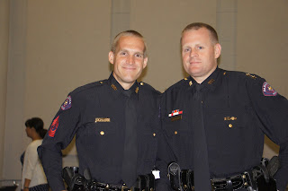 Brothers Sgt. Matt and Assistant Chief Josh Bruegger of the Pasadena Police Department.
