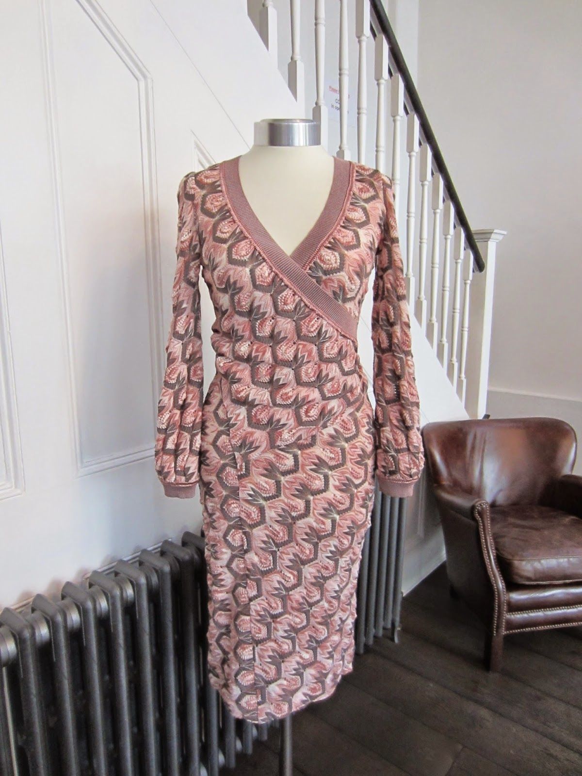 Missoni Pink & Taupe Patterned Dress