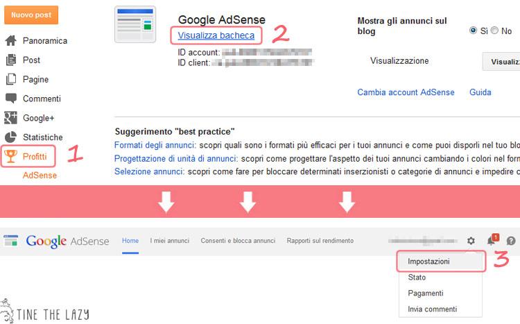 Come ripristinare Adsense dopo il cambio di dominio su Blogger