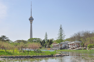 Beijing TV tower as seen from Yuyuantan Park