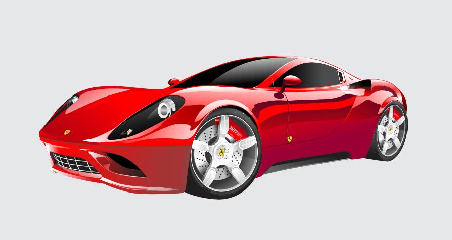 Free Download Vector Ferrari