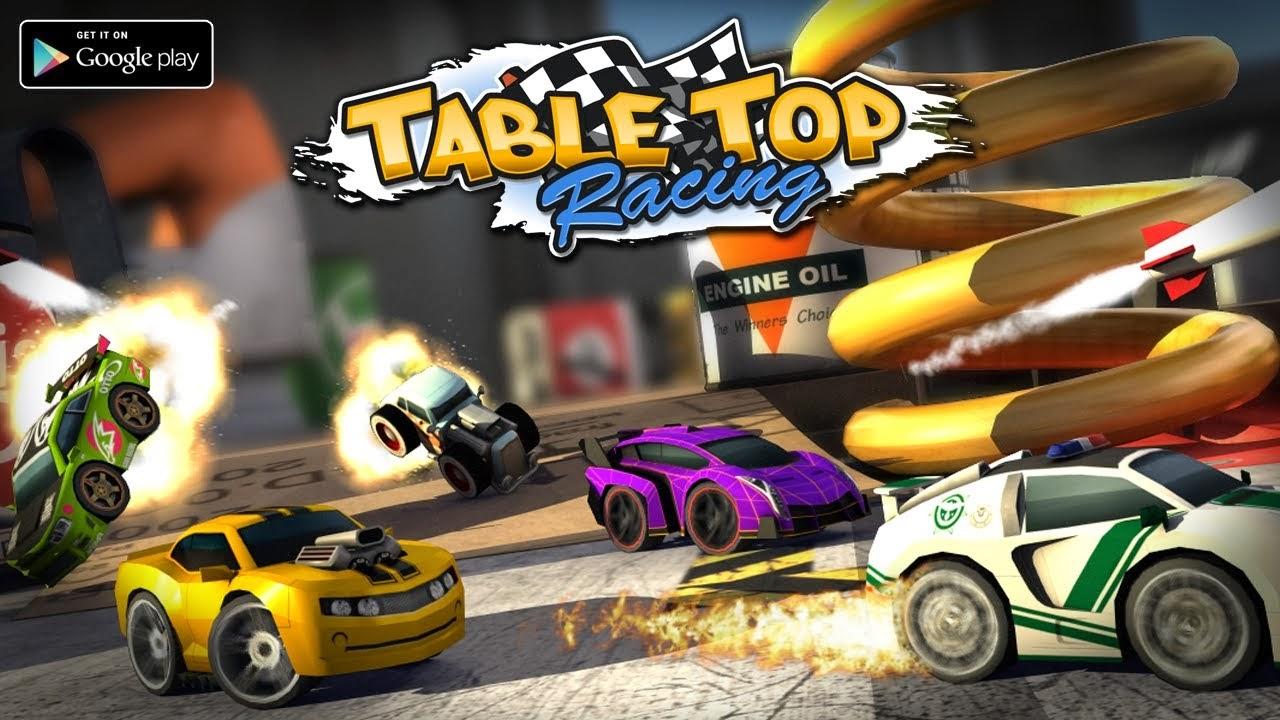 تحميل لعبة سباق السيارات المقاتلة للأندرويد مجاناً Table Top Racing APK 1.0.8